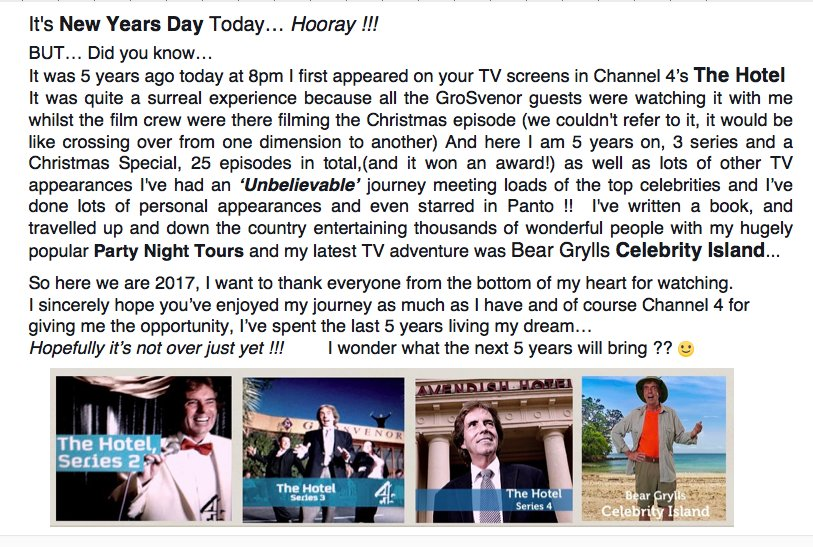 At 8pm Tonight it'll be exactly 5 years since I first appeared in #TheHotel on @Channel4  !!! https://t.co/KGwaSN9tLB