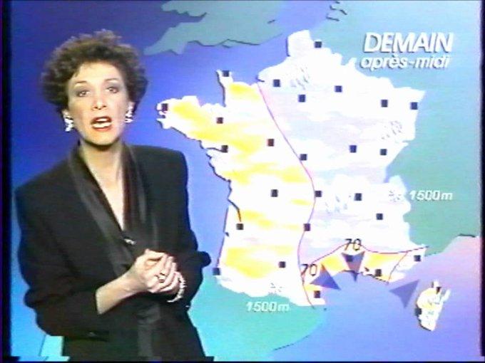 Catherine Laborde, 65 ans, 28 ans à la météo de TF1, prend sa retraite. Elle a présenté son dernier bulletin ce soir. /LeFigaro