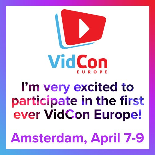 Can now say that @VidCon Europe is THIS YEAR