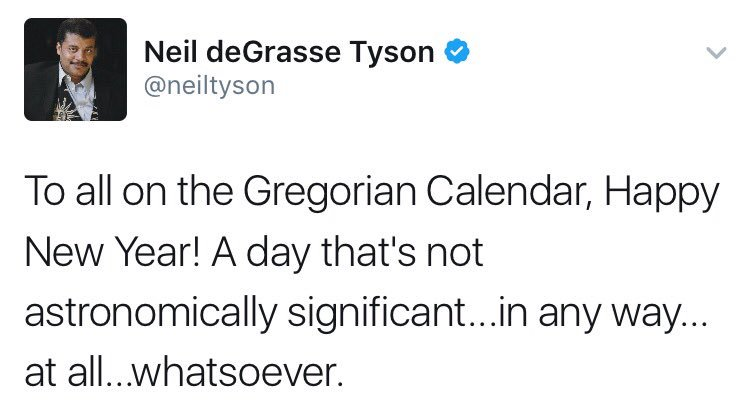 Image result for neil degrasse tyson new year