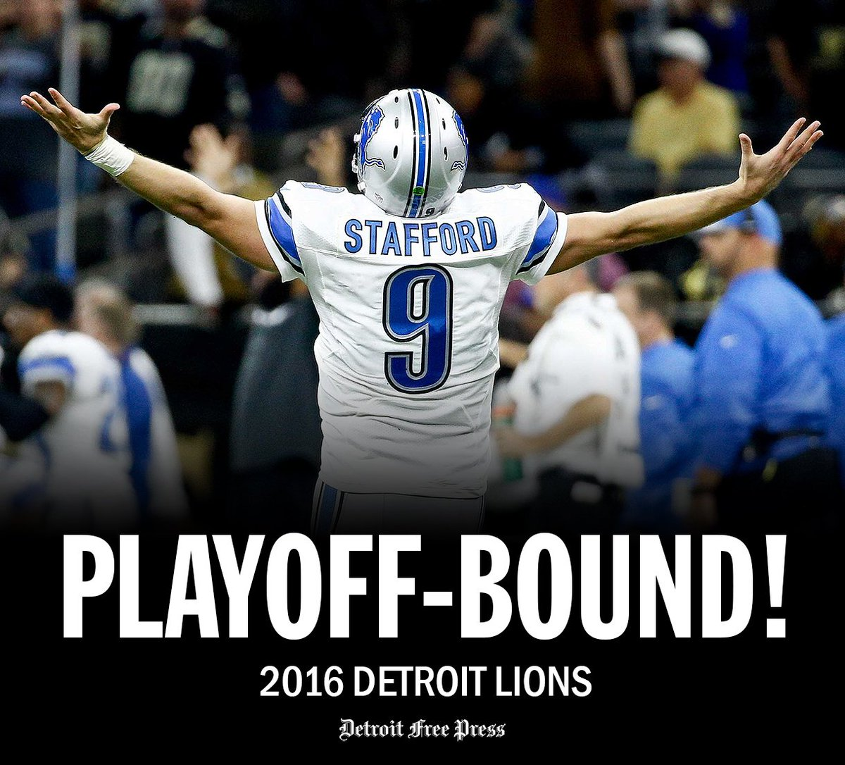 BREAKING NEWS: The @Lions are officially in the NFL postseason with that Redskins loss. https://t.co/Pvf8wdQYVu