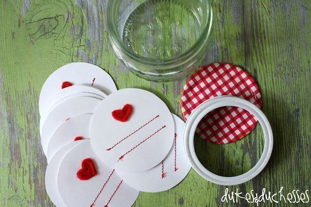 Homemade Gifts :: Stitched Mason Jar Labels