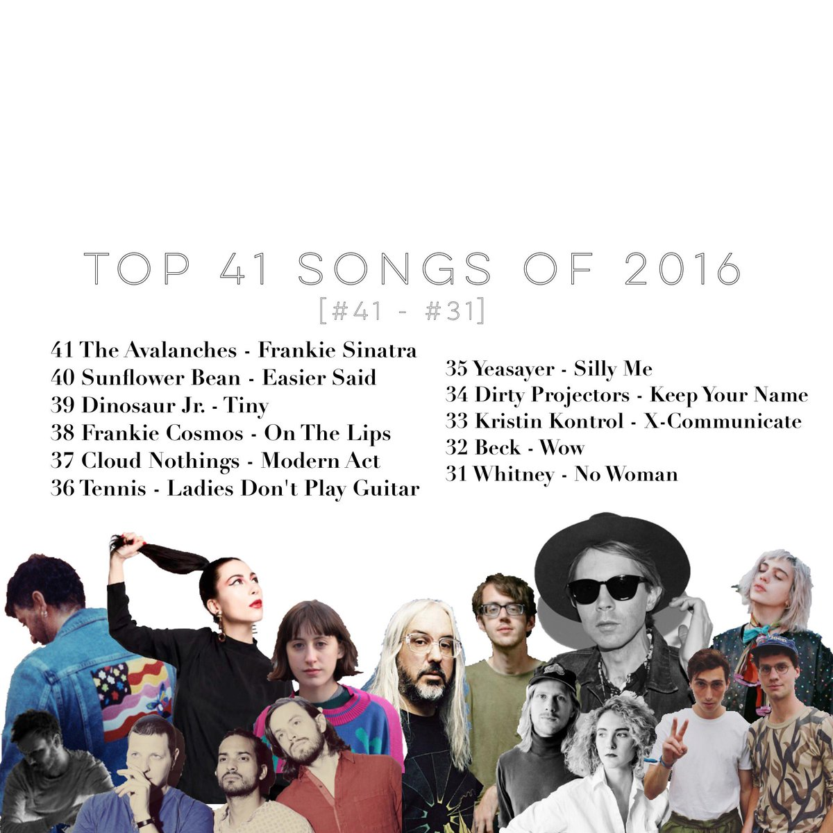 Top 41 Songs of 2016 [#41 - #31] part 1 of 4... https://t.co/bXCAPAQCyW