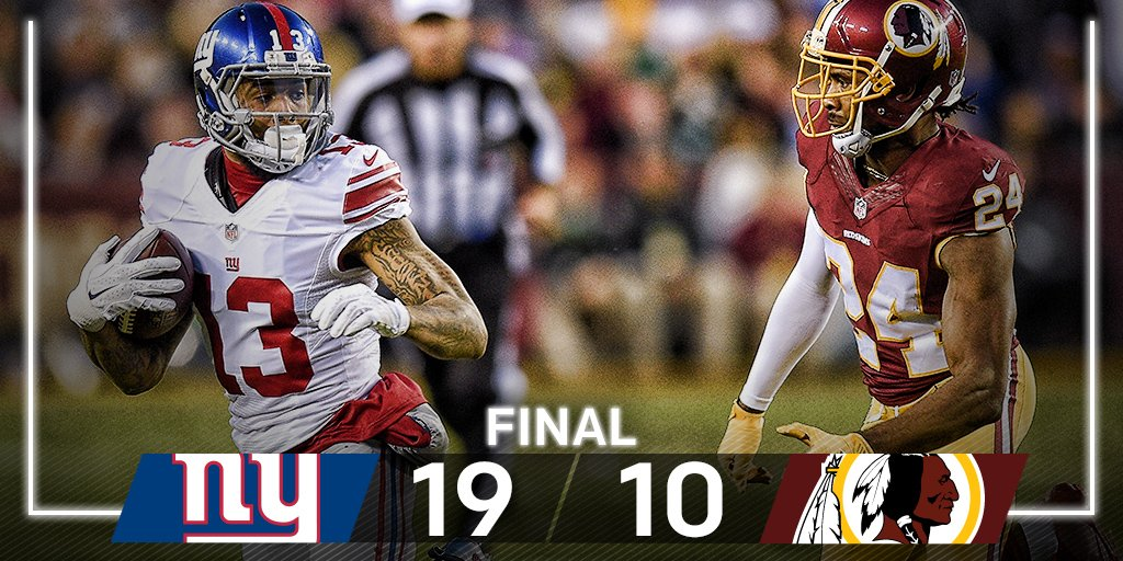 FINAL: @Giants get their 11th win! #GiantsPride  #NYGvsWAS