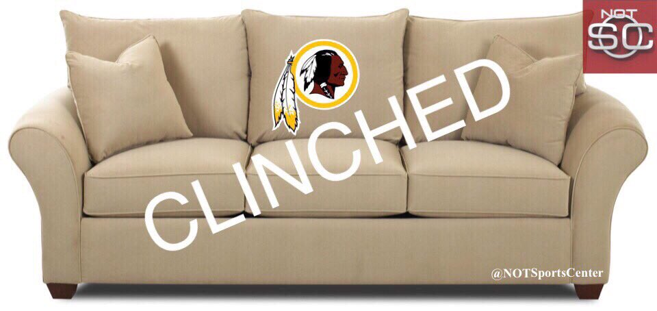 Incredible Redskins Breaking Redskins Clinched Couch Advantage Nfl Creativecarmelina Interior Chair Design Creativecarmelinacom