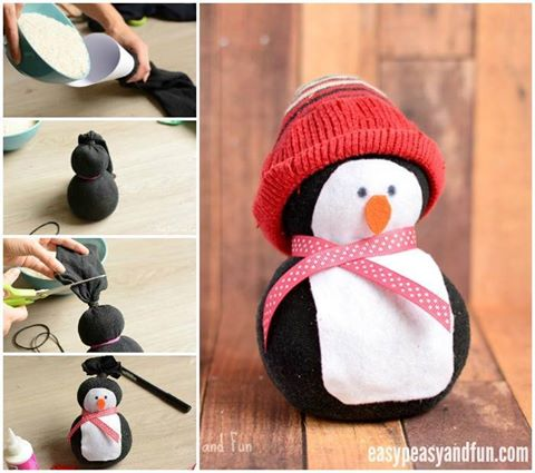 No-Sew Sock Penguin Craft