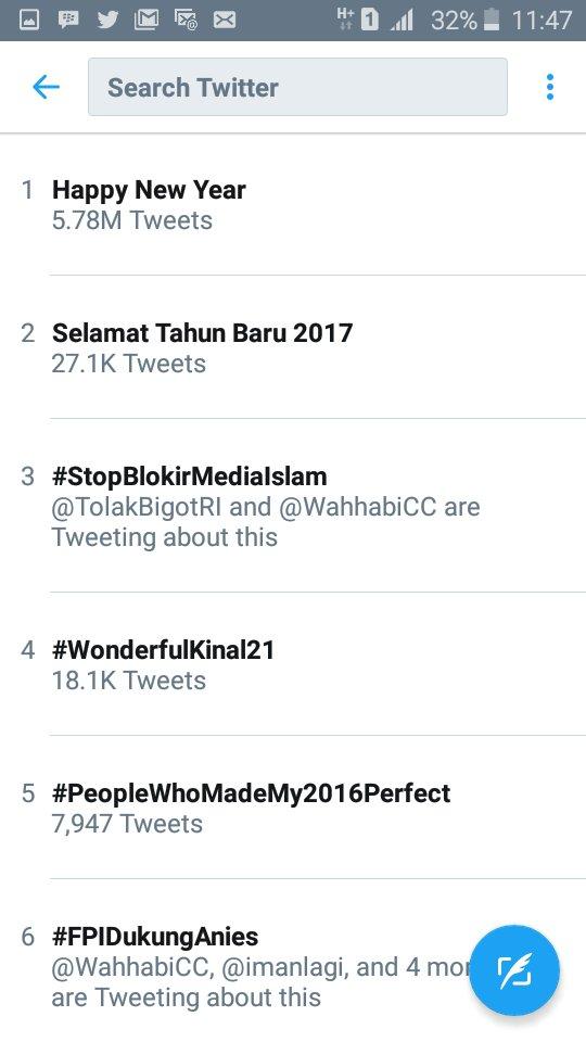 Beda trending topic Indonesia dgn trending topic worldwide saat ini. Kasihan negaraku. @TolakBigotRI @WJB__ https://t.co/8c3Eny2FUz