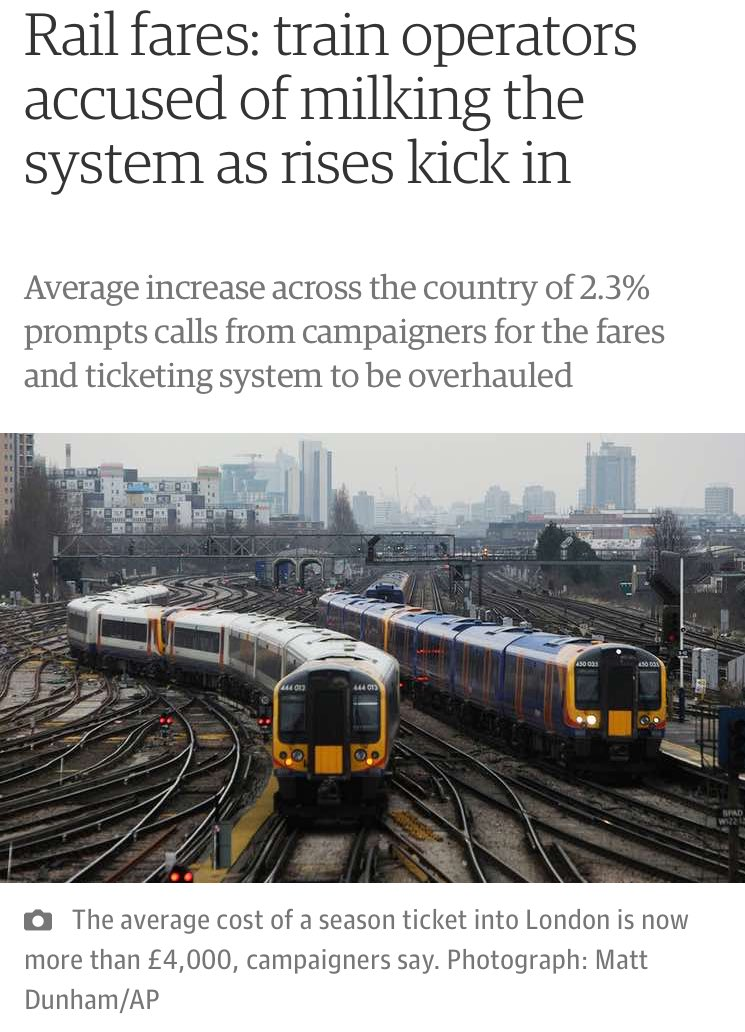 Happy New Rail Fare! Because privatisation works... https://t.co/y260U4v5LX