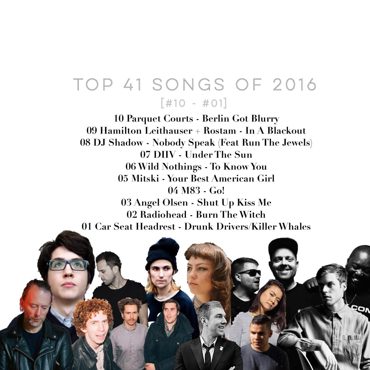 Top 41 Songs of 2016 [#10 - #01] part 4 of 4... https://t.co/ChFpJTIO8b