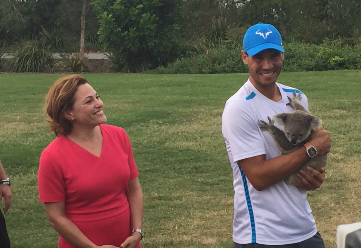 A koality welcome to @Queensland for @RafaelNadal for his first #BrisbaneTennis