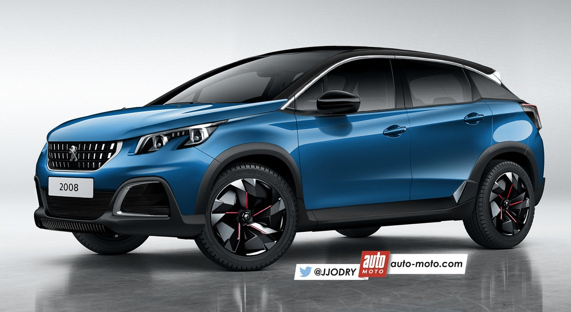Auto moto officiel on twitter futur suv peugeot 2008 2 for Interieur nouveau 3008