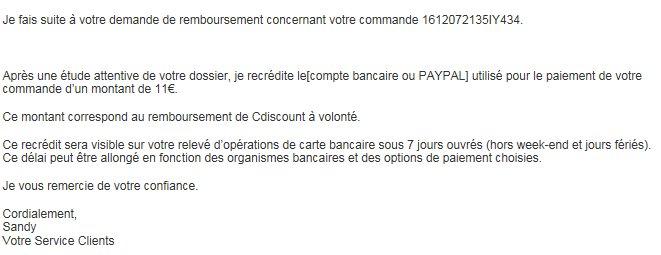 @CDISCOUNT Je demande le résiliation de #CDAV pendant le mois gratuit, prélevé de 19€ mais reboursé de 11€ @CDISCOUNT #CDAV= #voleur<br>http://pic.twitter.com/layDblxGZs