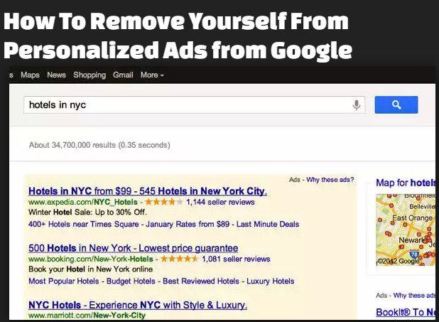 How To Remove Yourself From Personalized Ads from Google