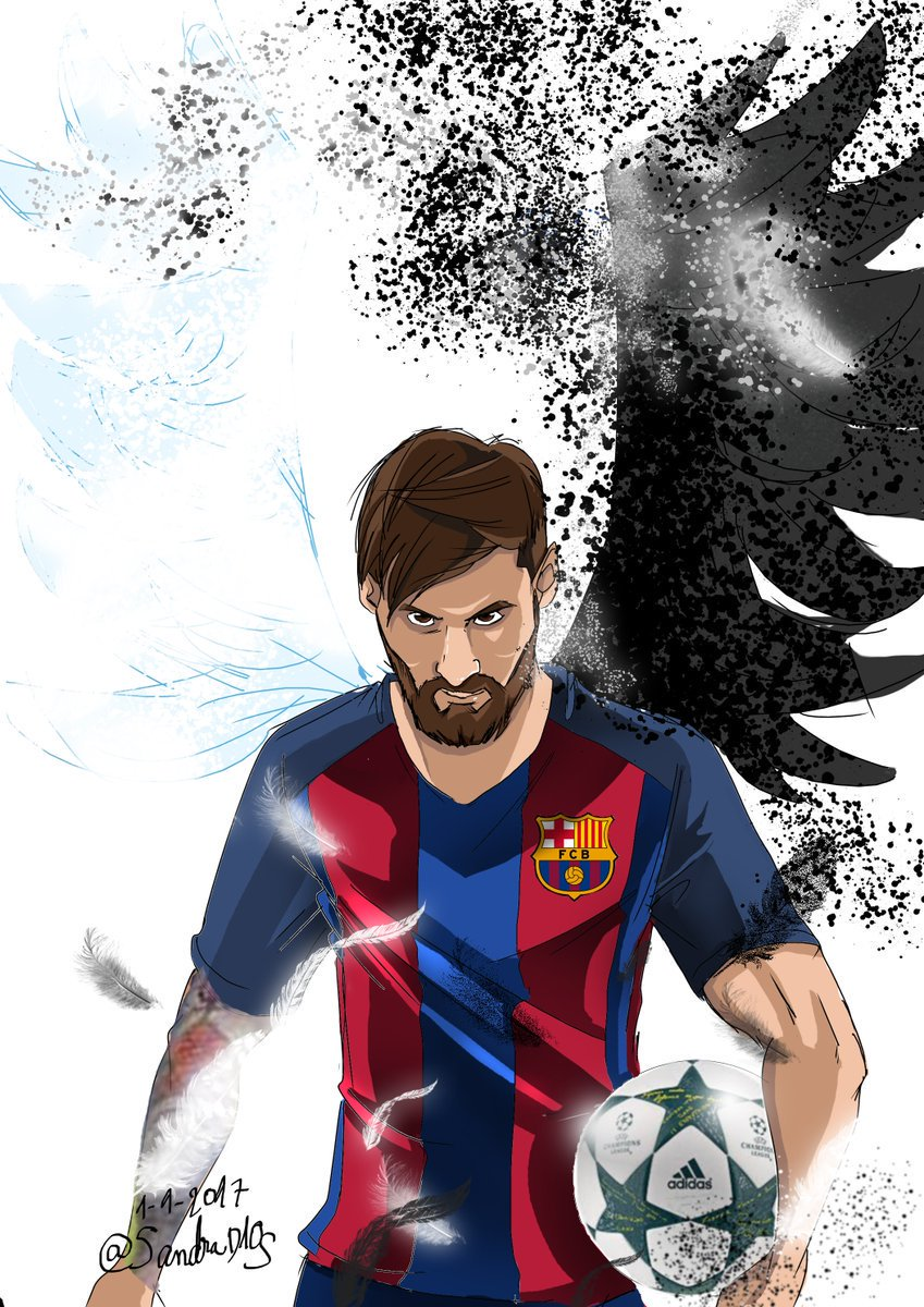 """Barca Galaxy on Twitter: """"Cartoon - Messi. Graphic by"""