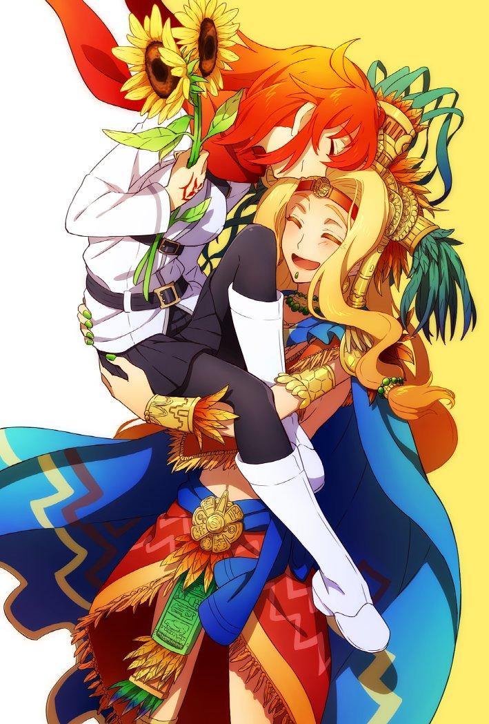 ケツァル・コアトルお姉さんとぐだ子 あけましておめでとうございます!