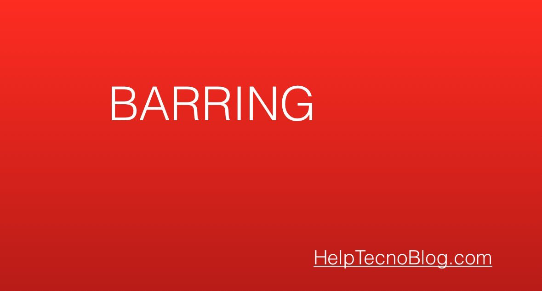 Barring dei servizi a sovrapprezzo