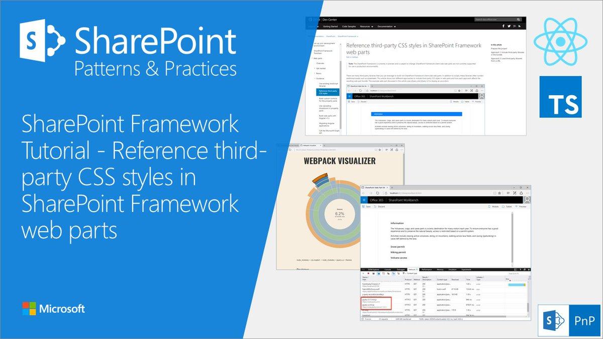 """office developer on twitter: """"#sharepoint framework (#spfx) tutorial"""