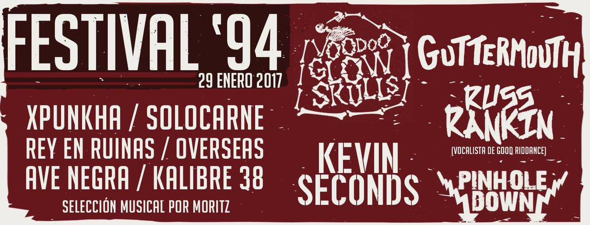 FESTIVAL '94    Enero 29 San José, Costa Rica 13 mil cólones   @glowskulls + @guttermouthxxx + @russrankinNJD + @kevinseconds + apoyó local https://t.co/0TzWfFpl5V