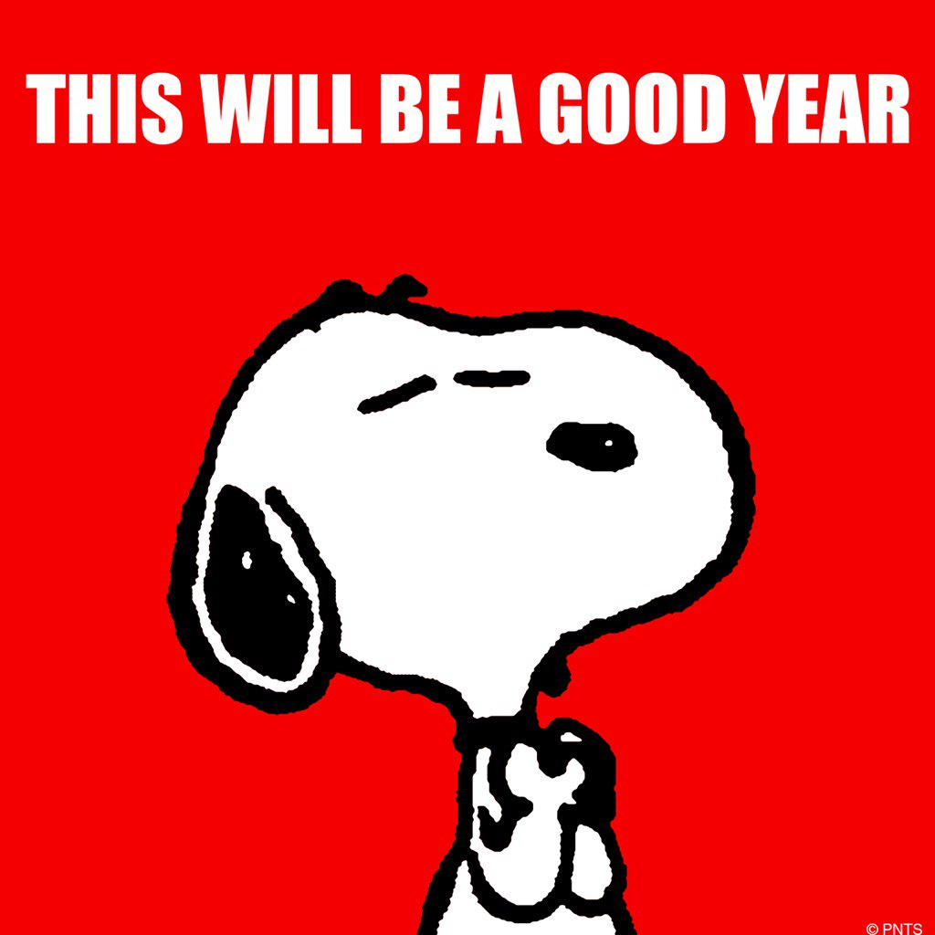 """Happy New Year Charlie Brown Quotes: PEANUTS On Twitter: """"2017 Will Be A Good Year. Https://t"""