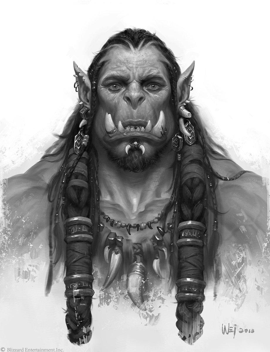 Some superb #Warcraftmovie artwork by Wei Wang here https://t.co/bxxqNCmfG7 https://t.co/lyJjKg0ZGF