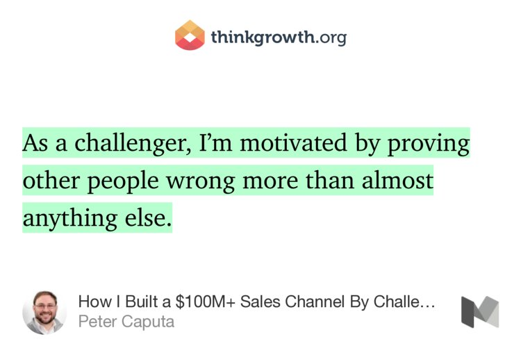 """How I Built a $100M+ Sales Channel By Challenging the Status Quo"" — @pc4media https://t.co/NdEKraQnxh https://t.co/sSLua1Yvfd"