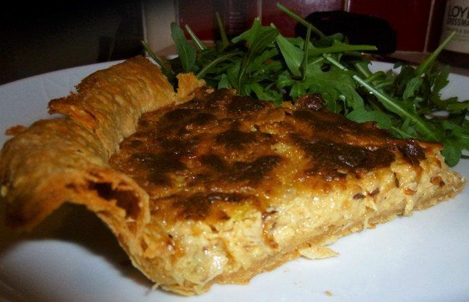 Warm Crab and Cheese Tart Recipe