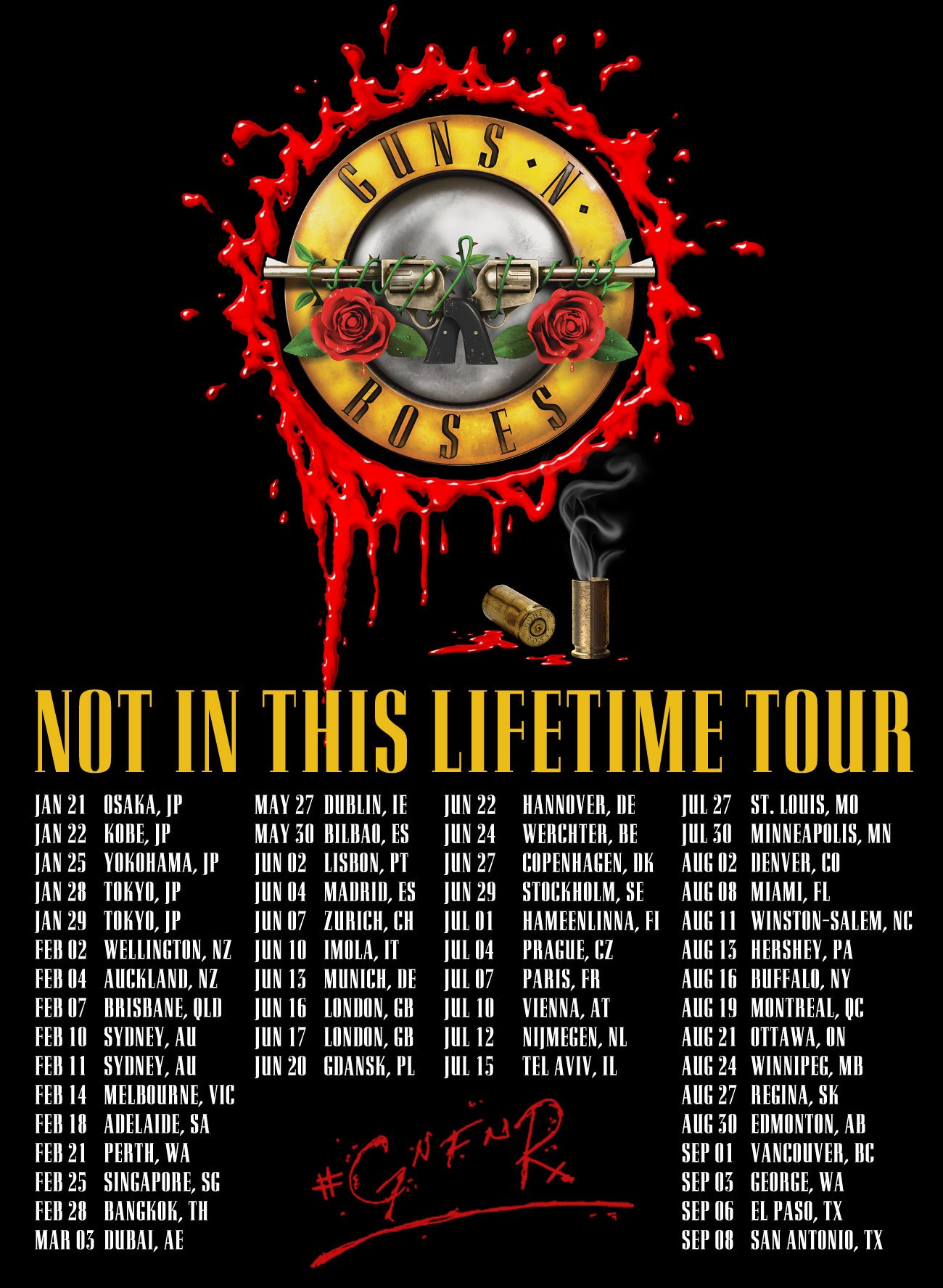guns n 39 roses on twitter gnfnr notinthislifetime tour 2017 tickets on sale now https t