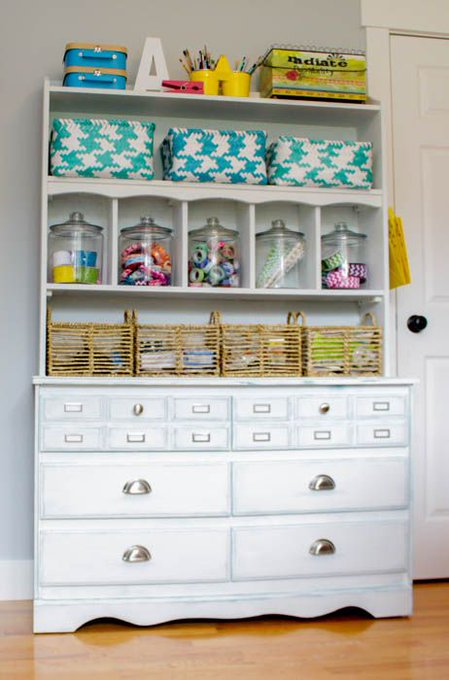 Making Over an Old Dresser for Craft Room Storage {ORC Week 3}