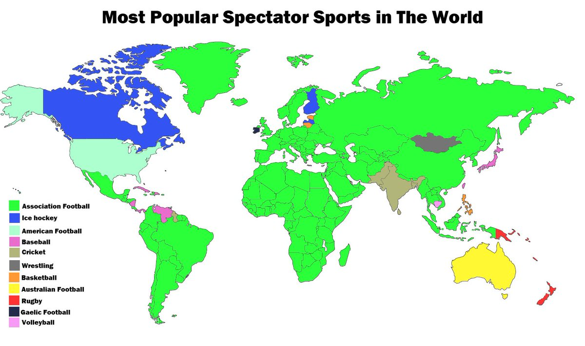 Amazing maps on twitter most popular spectator sports around the amazing maps on twitter most popular spectator sports around the world gumiabroncs Image collections
