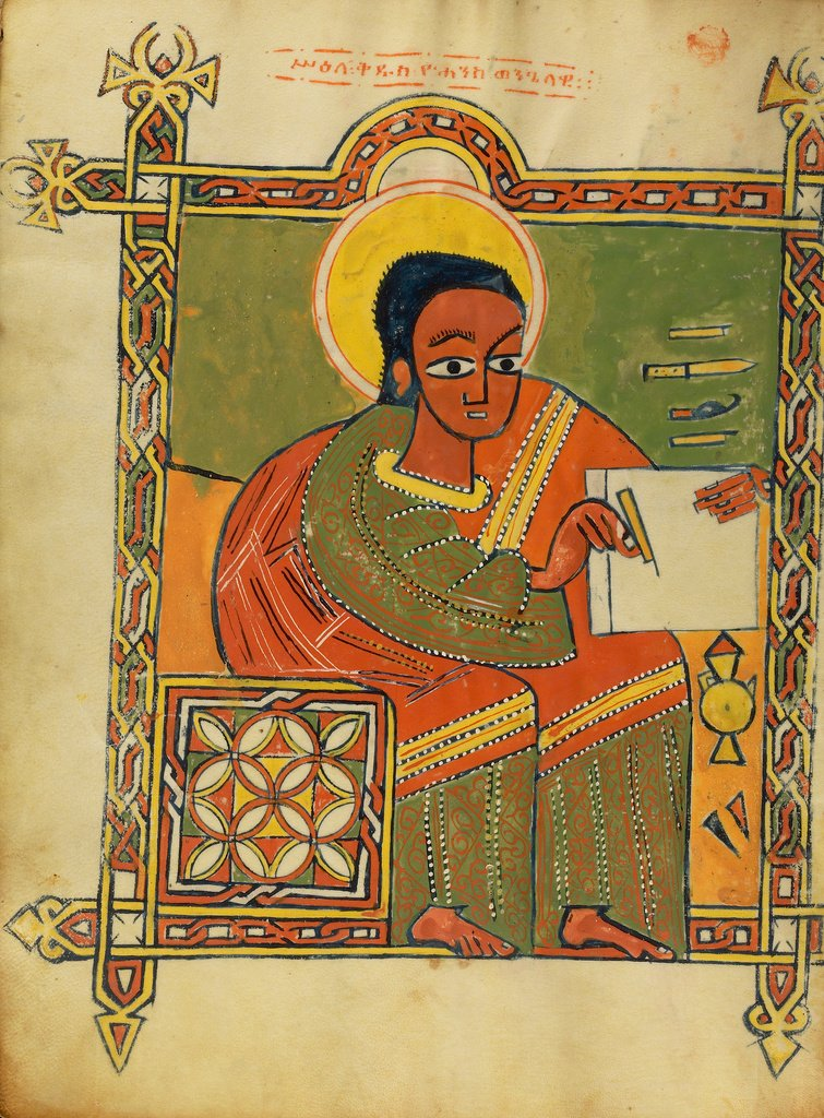 Jan 3: Feast of the Octave of John, apostle & evangelist; the beloved disciple [Getty MS 102, f 215v, Ethiopia] https://t.co/lEhLuvP5CU