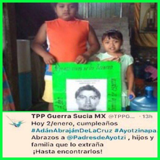 ㅤ ㅤ ㅤ  ╭╯╰╰╰╰╰╮ ▕╭▅╮╭▅╮▏ #Feliz cumple #AdánAbrajánDeLaCruz .  #Hoy #E2 /17  Te Abraza TU FAMILIA Y AMIGOS ️ #AyotziViveLaLuchaSigue ️ <br>http://pic.twitter.com/1XhfYmXyAp