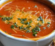 Cheddar and Tomato Soup