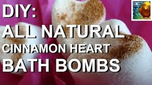 DIY Make Your Own All Natural & Organic Cinnamon Hearts Bath Bombs