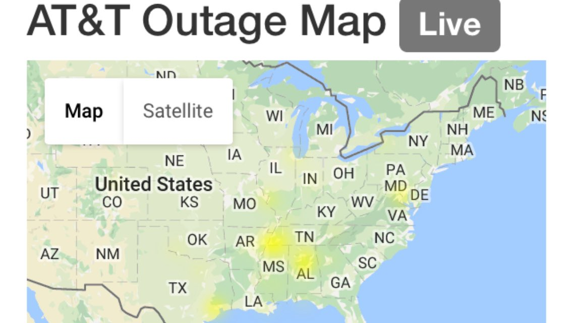 Joyce Peterson On Twitter Here S A Look At The Att Uverse Outage Map Right Now Probs Across The Country Not Just In Memphis Help Us Attcares Https T Co Ufjqjpjdyh