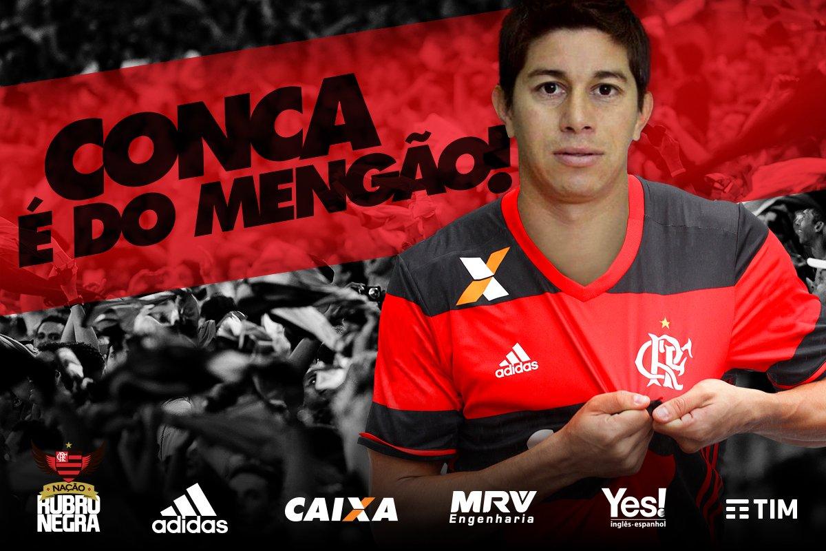 """Flamengo on Twitter """"Daro Conca é mais um refor§o rubro negro"""