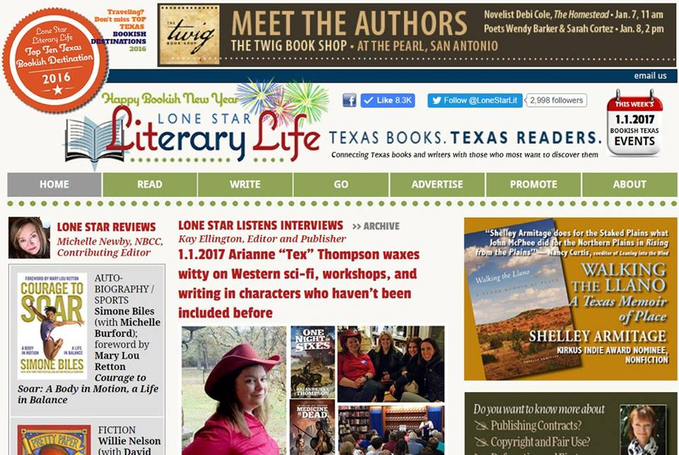 The next day, I woke up to this little miracle of PR love, courtesy of @LoneStarLit and @txbooklover: https://t.co/sHnq7sVrLU https://t.co/4Z0i6jLbEC