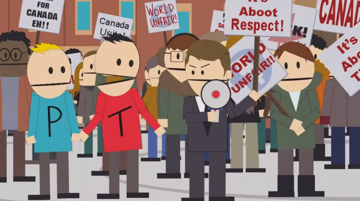 much on twitter canada s on strike during tonight s southpark20