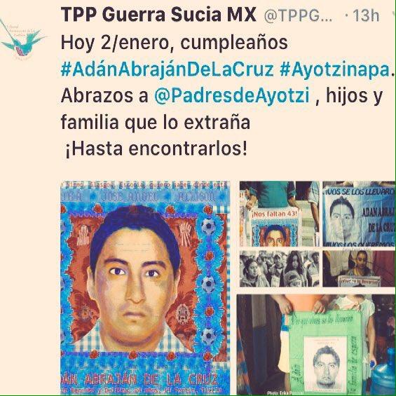 ㅤ ㅤ ╭╯╰╰╰╰╰╮ ▕╭▅╮╭▅╮▏ #Feliz cumple #AdánAbrajánDeLaCruz ㅤ  Te Abraza TU FAMILIA Y AMIGOS  #10pm #PaseDeLista1al43 @epigmenioibarra<br>http://pic.twitter.com/1jvNfWcdb8