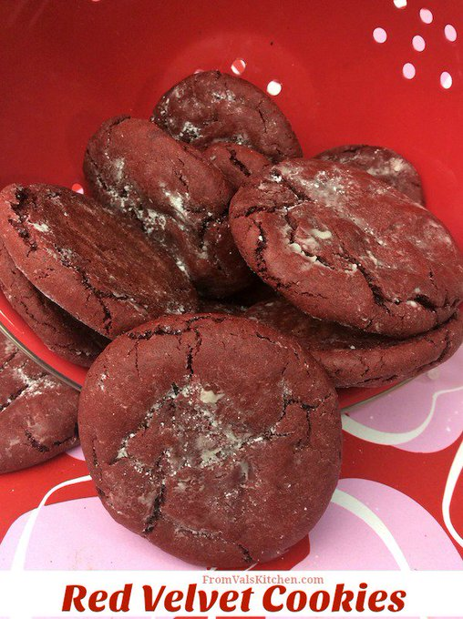 Red Velvet Cookies #Recipe