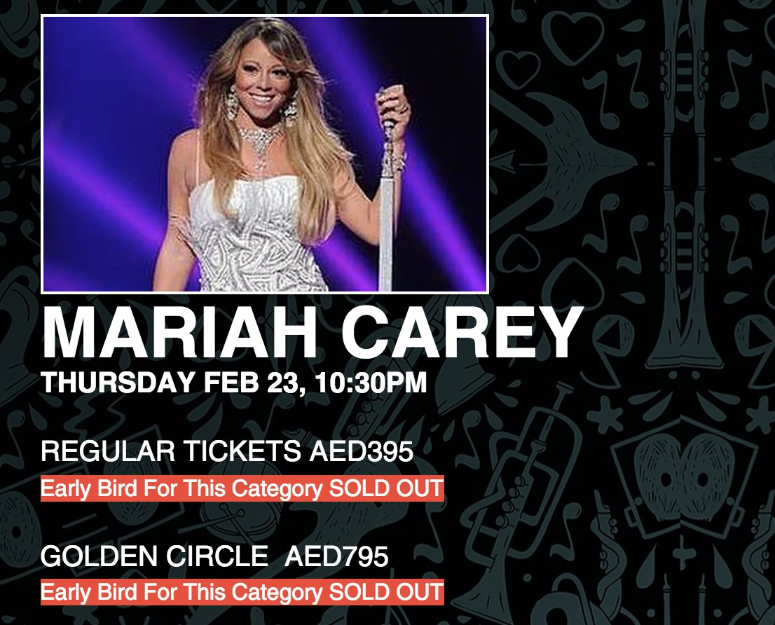 """#MariahCarey's career is over - she will never sell concerts again"" #SOLDOUT #SOLDOUT #SOLDOUT https://t.co/IfJFMAVZVE"