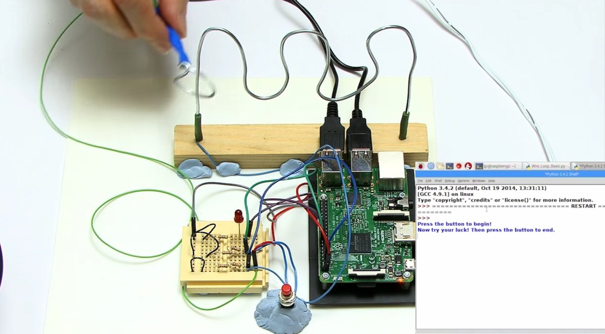 The Magpi On Twitter We Love This Cracking Wire And Loop Project Wiring Schematic Diagram October 2014 To Teach Circuit Building Python Coding Https Tco Oqrhtyqi02