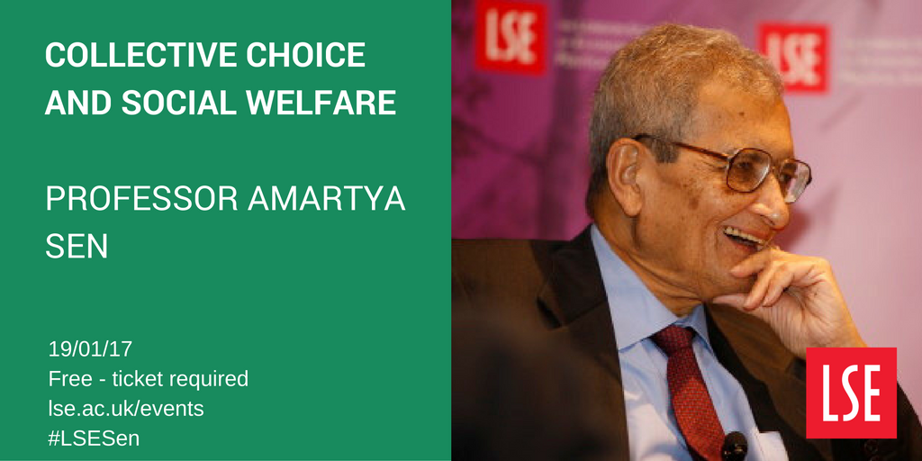 Tickets released 11/01 for Amartya Sen on #welfare #inequality #poverty w @MukulikaB @SAsiaLSE 19/01 https://t.co/fvW9SGDhsO #LSESen https://t.co/SGVZfAZxOe