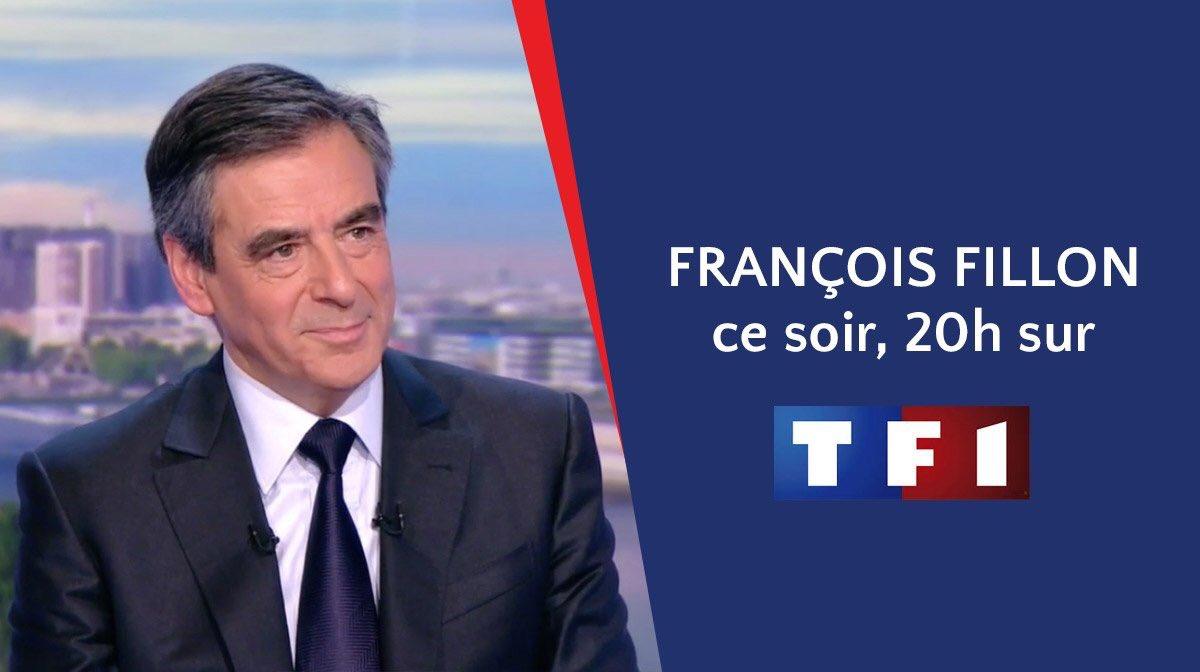 @FrancoisFillon sera ce soir l'invité de Gilles Bouleau dans le journal de 20h sur @TF1. #JTFillon #RueilAvecFillon #AvecFillon2017 pic.twitter.com/NWzNcHACWy
