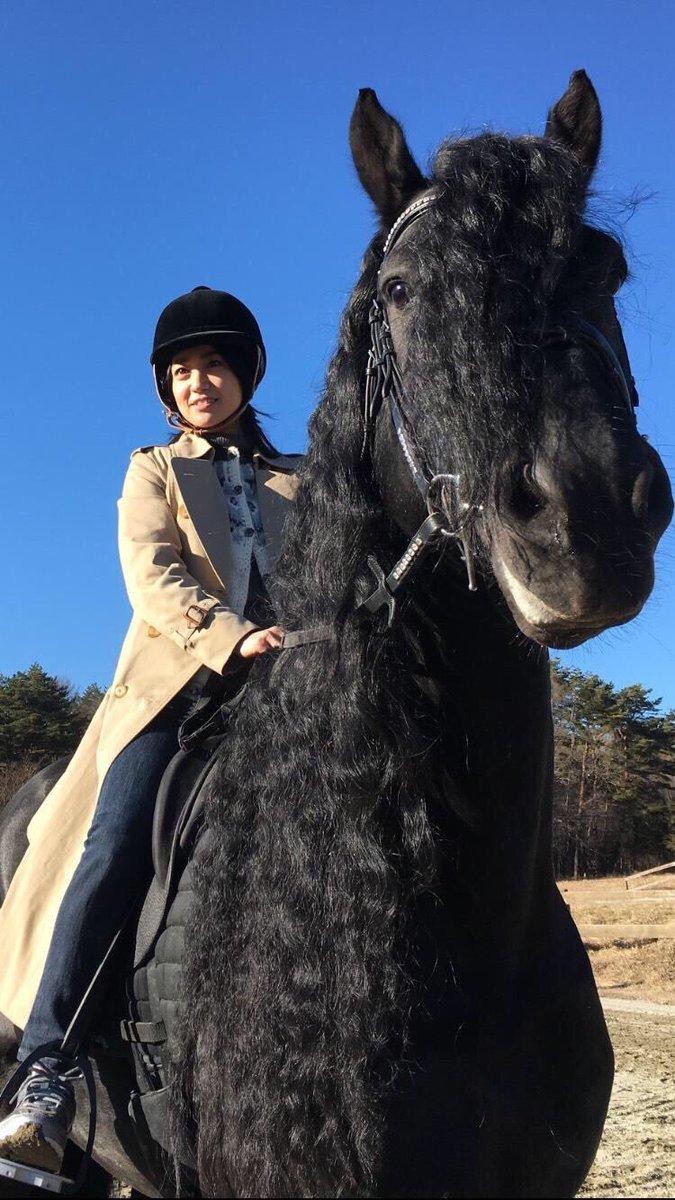 馬に乗る大島優子