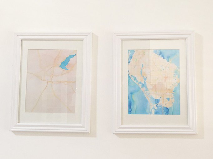 How to make your own printable watercolor map