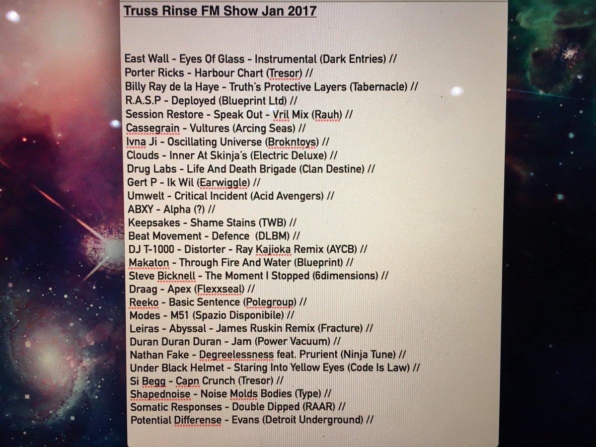 January's @rinseFM show now online --->   https://t.co/2NqTOacOM9  Tracklist ⬇️ https://t.co/V3FNed7Klk