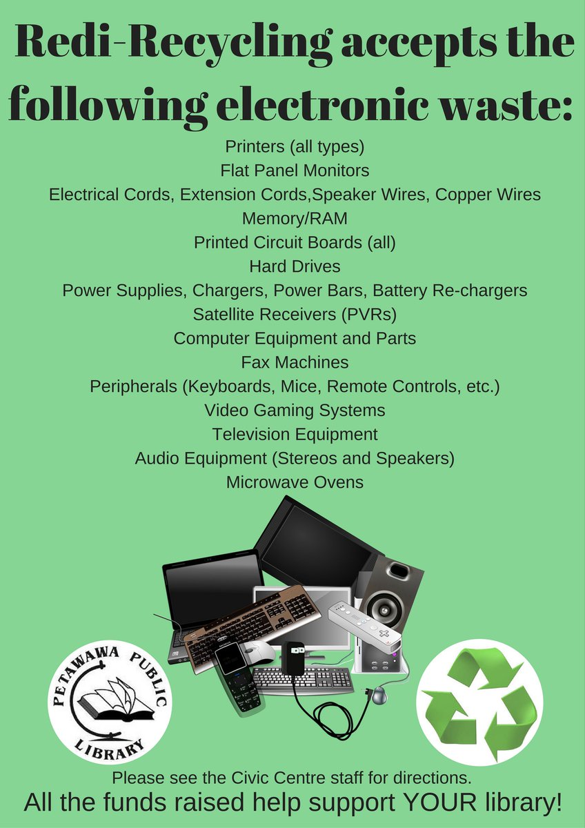 Petawawa Library On Twitter Making Room For New Electronic Gadgets Printed Circuit Board Recycling Equipment View See The Civic Centre Staff To Drop Off Your Old Ones Proceeds Support Https Tco Yihimfncca
