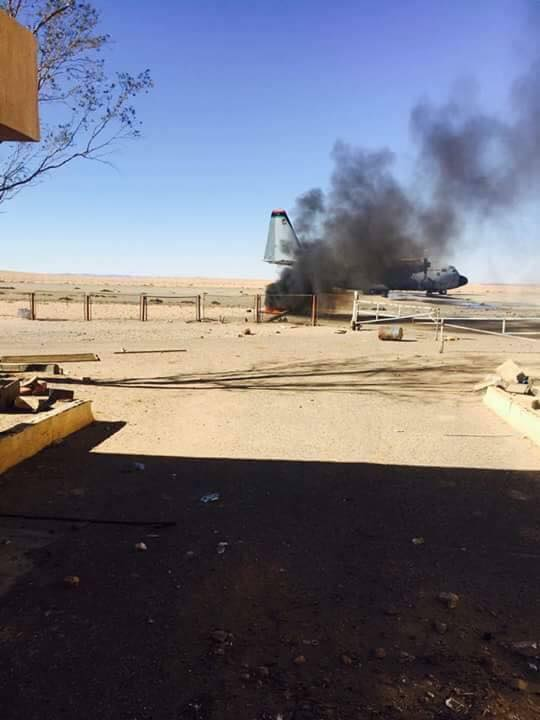 Aftermath of Dignity Operation airstrike on Jufra airbase. Spokesperson of Misrata Military Council Ibrahim Bit Almal was wounded