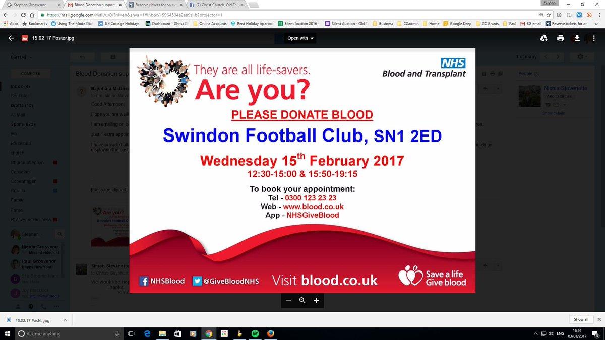Be a life saver - give blood. christchurchswindon.co.uk/blog/2017/01/b…