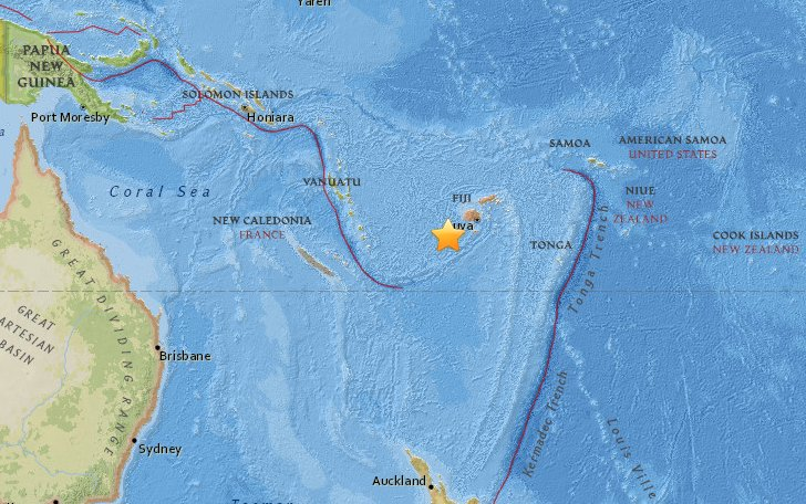 Terremoto Oggi Isole Figi con allarme tsunami revocato dopo un'ora
